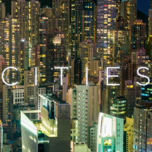 Image of city lights that links to Planet Earth's documentary on Animals that have adapted to city environments