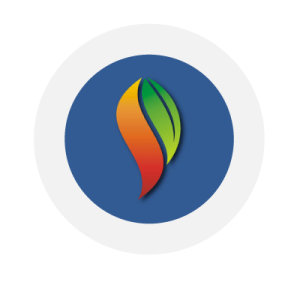 Skeptical Science logo of colorful leaf linking to their website