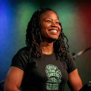 Photo of Majora Carter and a link to her Ted Talk about environmental justice