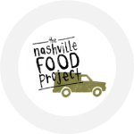 The Nashville Food Project's logo which is a green truck with their name on it