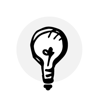 A light bulb image that leads to the web page titled Change Your Mind which lists other climate change related resources