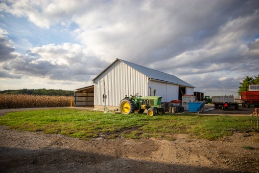 Looking out over Bob Suter's farm, I was captivated by the clouds. In his interview, Bob talked about how lucky he feels to be outside every day surrounded by so much natural beauty; after spending just a few hours on the farm I could see why.