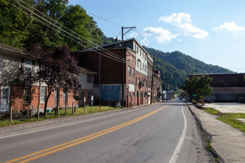 Keystone is a town in McDowell County, West Virginia. This downtown strip used to be bustling with people, but in the past fifty years the population has decreased significantly due, in large part, to the coal industry's decline.