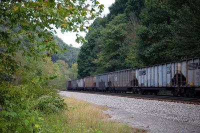 As Randy Green talks about in Episode Two, railroads have been, and still are, crucial to McDowell's economy. Train tracks were visible from almost every place we visited in McDowell, and train cars passed by frequently.