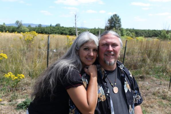 Randy and Edith Woodley on their farm in Oregon. (Photo from Randy Woodley)
