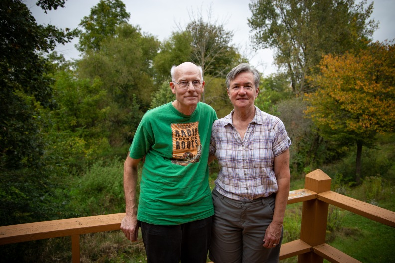 Ken Lawrence and Sara Brenner are part of a group called Transition Bluffton that works to create environmentally and socially sustainable practices in Bluffton, Ohio.