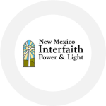 New Mexico Interfaith Power and Light's logo which is a windmill that doubles as a beacon of light