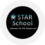 The STAR school logo--a five pointed star and the acronym STAR which stands for Service To All Relations