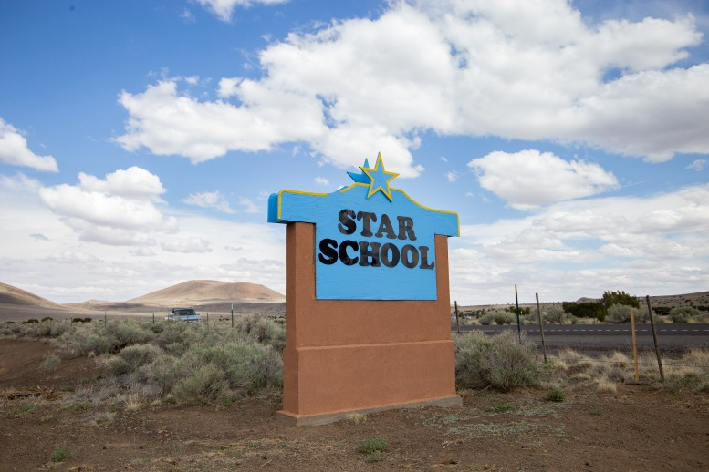The STAR school is a charter elementary school located near Leupp, AZ. Students here are taught sustainable agriculture, indigenous history, and the Dine language among other things. The acronym STAR stands for Service To All Relations.