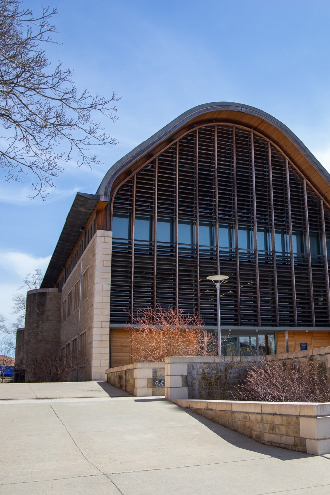Kroon Hall is the main building for the Yale School of Forestry and Environmental Studies (F&ES). It is a certified LEED (Leadership in Energy and Environmental Design) platinum building, meaning it meets some of the highest sustainability standards in the country.